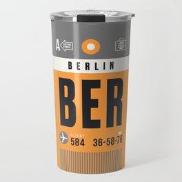 Luggage Tag A - BER Berlin Germany Travel Mug