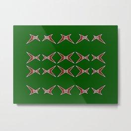 Stars Parade-green Metal Print