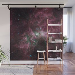 Abstract Purple Space Image Wall Mural