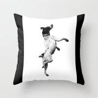 best friend Throw Pillows featuring Best Friend by Michael Hewitt