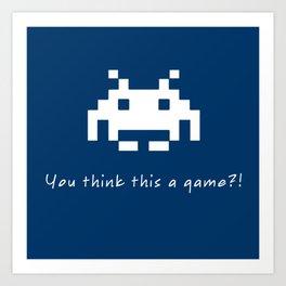 Invader Games Art Print