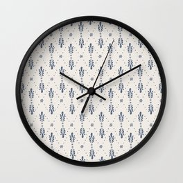 Indigo Meadow Wall Clock
