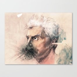 I'm a real live wire. - David Byrne Portrait Canvas Print