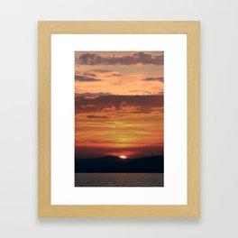 Charming sunset Framed Art Print