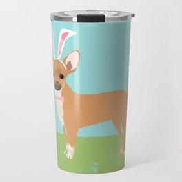 Chihuahua dog breed easter bunny dog costume pet portrait spring chihuahuas Travel Mug