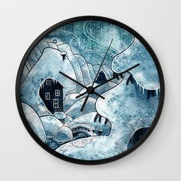 Winter in The Moomin Valley Wall Clock