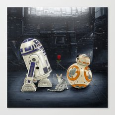 LOVE DROID & THE CAT Canvas Print