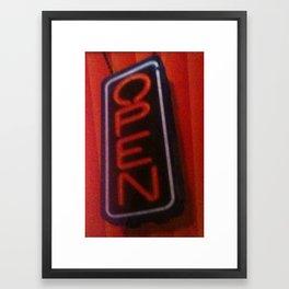 Open For Business Framed Art Print