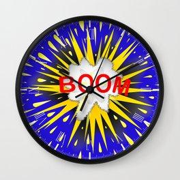 Boom Cartoon Bubble Wall Clock