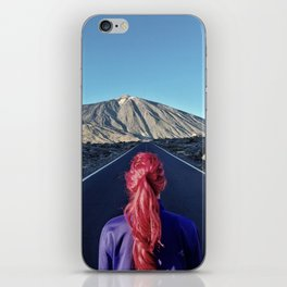 Monica and a volcano iPhone Skin