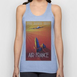 Vintage poster - Air France Unisex Tank Top