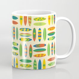 Surfboards Pattern Men Coffee Mug