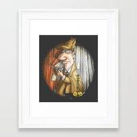 sherlock holmes Framed Art Prints featuring Sherlock Holmes! by Berni Store