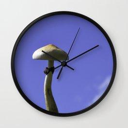 mushroom in the sky Wall Clock