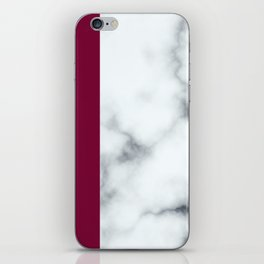 Berry Marble iPhone Skin