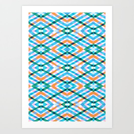 The rustic link based on tenun ikat Art Print