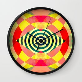 Funky shapes Wall Clock