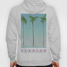 Florida Palms travel poster, Hoody