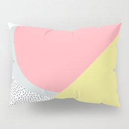 80's Retro Pattern in Yellow and Pink Pillow Sham