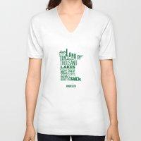 minnesota V-neck T-shirts featuring Minnesota by Kelly Jane