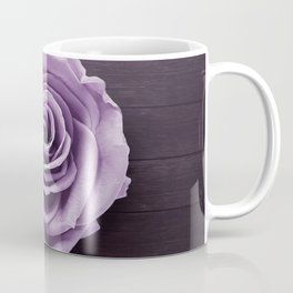 PURPLE - ROSE - ON - WOODEN - SURFACE Coffee Mug