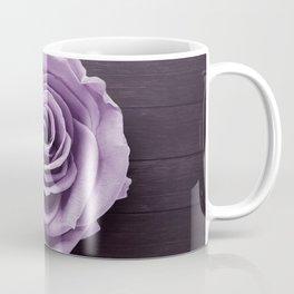 PURPLE - ROSE - ON - WOODEN - SURFACE Coffee Mug