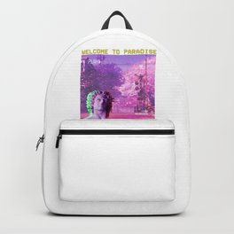 Retro Aesthetic Streetwear Gift Vaporwave Welcome to paradise Backpack