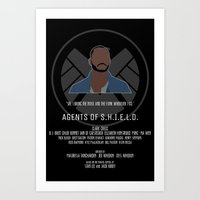 agents of shield Art Prints featuring Agents of S.H.I.E.L.D. - Trip by MacGuffin Designs