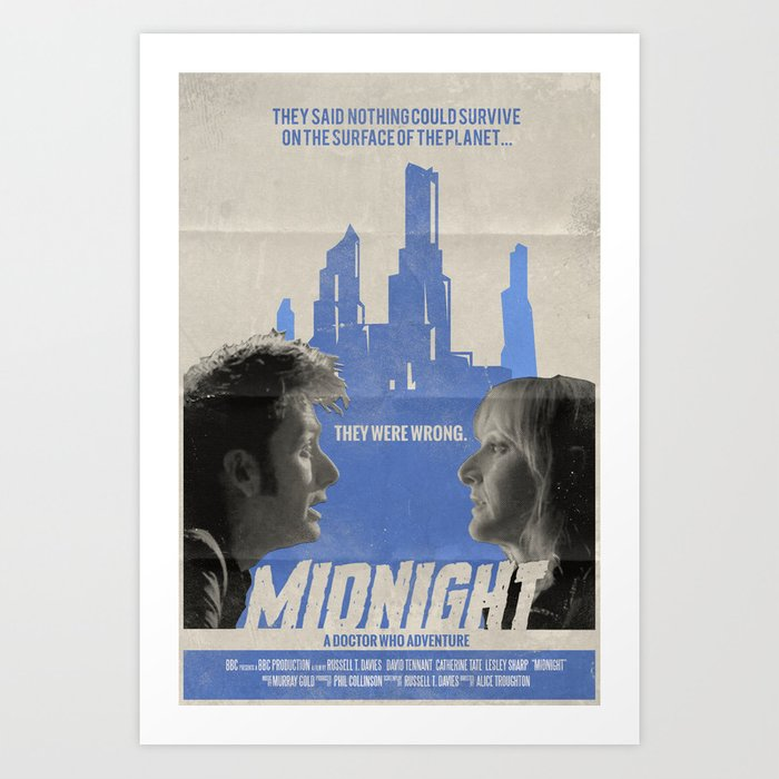 "Doctor Who ""Midnight"" Retro Vintage Movie Poster Art Print"