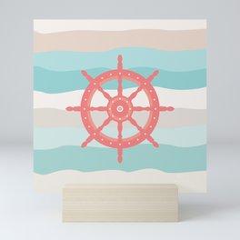 AFE Coral Helm Wheel, Nautical Art Mini Art Print