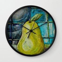 Moon Pear Wall Clock