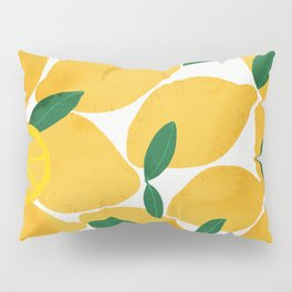 lemon mediterranean still life Pillow Sham