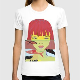 """""""Redhead Worry"""" Paulette Lust's Original, Contemporary, Whimsical, Colorful Art T-shirt"""