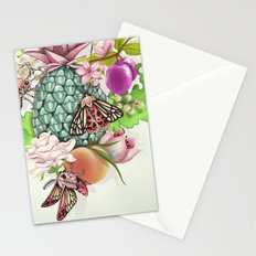 Glam Tropical - silver version Stationery Cards