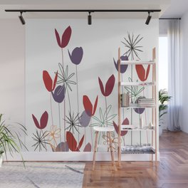 Flowers print, impresion decorativa Wall Mural