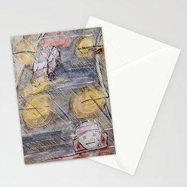 Rainy November Street Stationery Cards