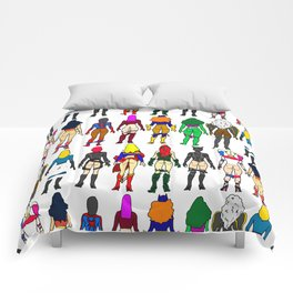 Superhero Butts - Girls Superheroine Butts LV Comforters