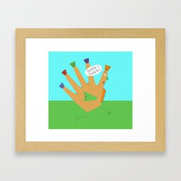 The Perfect Thanksgiving Turkey Framed Art Print