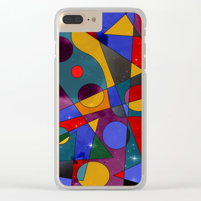 Abstract #152 Clear iPhone Case