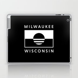 Milwaukee Wisconsin - Black - People's Flag of Milwaukee Laptop & iPad Skin