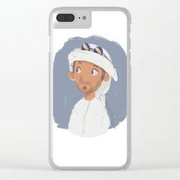 Young Emirati man wearing Hamdaniya Clear iPhone Case