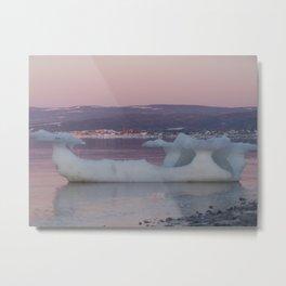 Viking Ice Ship at the Beach Metal Print