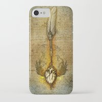 write iPhone & iPod Cases featuring write your heart out by Marine Loup