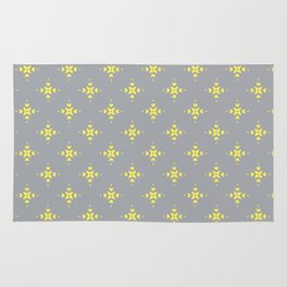 Ornamental Pattern with Grey and Lemon Yellow Colourway Rug