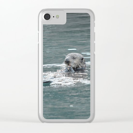 Crustacean Dinner Clear iPhone Case