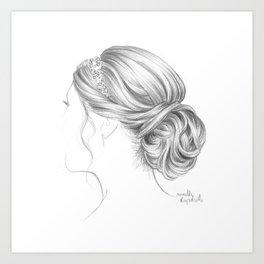 Fancy hairstyle Art Print