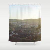 spain Shower Curtains featuring Salamanca, Spain by Ashley Callan