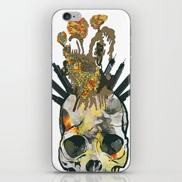 Skull and crazy city iPhone Skin
