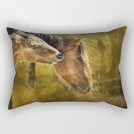 Horsing Around No. 2 - Pryor Mustangs Rectangular Pillow
