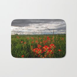 Brighten the Day - Indian Paintbrush Wildflowers in Eastern Oklahoma Bath Mat